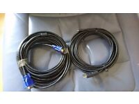 Cables for TV Mounting 10 m HDMI and 10 M VGA, also VGA switcher