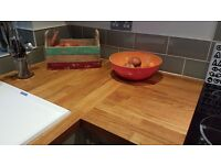 Real oak Wicks kitchen worktop (unused)