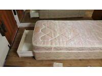 Single Divan Bed, Mattress & Headboard In Great Condition
