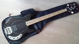 OLP Ernie Ball Licensed Musicman bass guitar