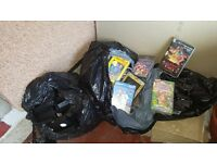 2 bags of video tapes some on cases free to anyone who picks up from barlanark area