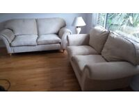 2 Laura Ashley Sofa's Mortimer 1 x 2 Seater 1 x 3 Seater Excellent Condition Soft Neutral Colour
