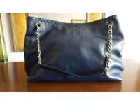 Tory Burch designer handbag, navy blue