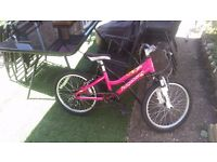 "Ridgeback Harmony 20"" Girls Mountain Bike Bicycle Pink Raspberry fully working"