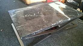 Marble coffee table with stand