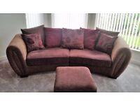 Sofa (Grand) + 2 Chairs + Footstool