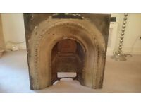 Large Cast Iron Victorian Fire Surround / Insert