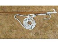 MOORING GRAB HOOK AND BOAT HOOK POLE COMPLETE