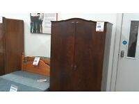 Wardrobe dark wood 2 door