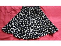 Spotted flowery floral summer skirt new