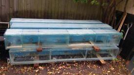 Display or breeding fish tanks x6