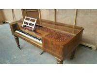 Antique Rosewood Piano. Reception Desk. Prop.