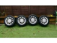 """Mercedes benz authentic alloys 18"""" with almost new tyres"""