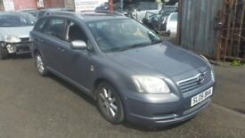 TOYOTA AVENSIS 2005 DIESEL 2.0 TDI GREY ''BREAKING''ALL PARTS AVAILABLE