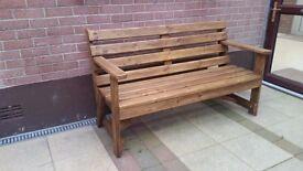 solid wood garden bench seat