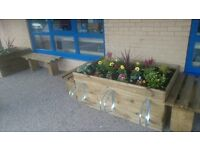 BUDGET range of TIMBER PLANTERS - any size any location