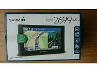 Sat nav brand new Garmin nuvi 2699 lmt-d with full European mapping and free lifetime map updates