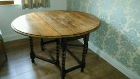 Dining table Oak drop leaf