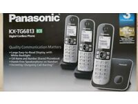 NEW 3 Panasonic Digital Cordless Phone Trio