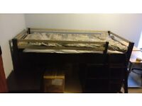 Child's mid sleeper single bed and matching furniture