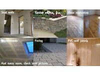 Best prices - stud walls, plasterboards, PVC wall panels, floor renovation and more