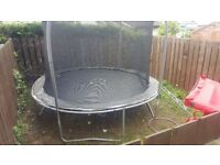 10ft trampoline, safety net, ladders and cover for sale