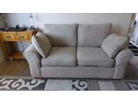 Next Garda x 2 Sofa settee (3 Seats) in Weave beige Fabric