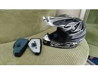 Nitro Junior MX410 helmet (quad pit bike motocross go kart)
