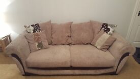 Large 3 seater sofa and matching snuggle chair