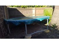 Large outdoor trampoline, very good condition. No saftey net.