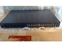Netgear FS728TP v1 24 Port 10/100 POE Switch+ 4 Gigabit 10/100/1000 Ports