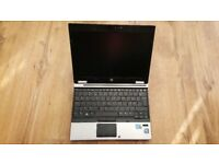HP Elitebook 2540p Intel i5 Laptop. 4gb. 250gb. 12.5inch screen