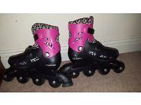 Easily adjustable In Line Skates size 13-3