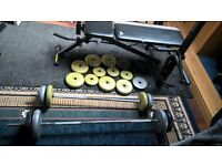LOOK! AMAZING WEIGHTS AND BENCH BUNDLE!