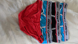 ANDREW CHRISTIAN BULGE BRIEFS AND COCKSOX XL