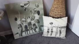Seaside Picture and cushion