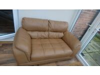 2 seater and chair, Italian designer leather suit