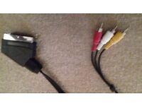 scart plug with switch to 3 rca im audio