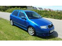 SKODA FABIA VRS LIMITED EDITION. RACE BLUE. 1.9 TDI REMAPPED TO APPROX 170 BHP. IMPECCABLE VEHICLE.