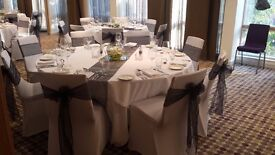 Wedding Chair Covers & Sash D.I.Y hire from 80p