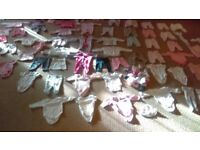 Baby girls bundle, excellent condition, items include clothing, moses basket and accessories, rocker