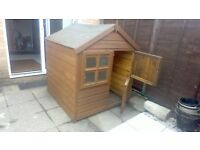 4' x 4' wooden playhouse, stable-type door and opening window