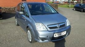 2008 Vauxhall Meriva, 1.2 spl edition Diesel, low mileage,1 yr mot cheap R Tax & 2 prev owners