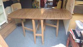 Brown Gate Leg Dining TABLE (laminate)