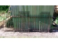 Vintage 1847 Wrought Iron Railings and Gates