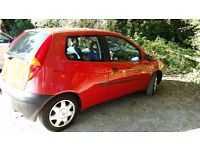 FIAT PUNTO 1.2 RED WITH BLUE INTERIOR. 10 Months MOT. Cheap to run.