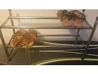 Extandable chrome shoe rack