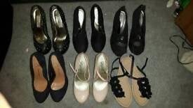 6 pairs of size 4 shoes