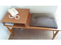 Wooden Telephone Table with Seat