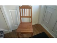Ikea oak dining table and 4 chairs in reasonable condition
